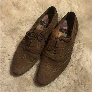 """Paul Smith """"Men Only"""" Brown Suede Brogues"""